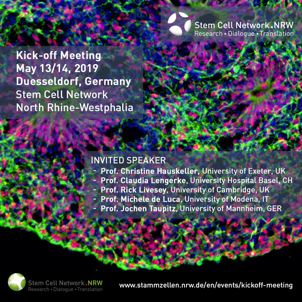 Kick-off Stem Cell Network NRW